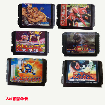 1 in 1 Customized Retro Game Cartridges for Sega Genesis Console for Sega Megadrive 1 Game 16 Bit Game Cartridges Game Cards