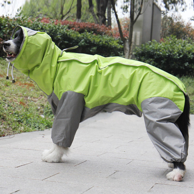 Pet Big Dog Raincoat Waterproof Clothes For Small Large Dogs Jumpsuit Rain Coat Hooded Overalls Cloak Labrador Golden Retriever