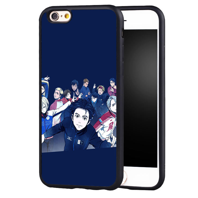 Anime Yuri!!! On Ice Fanart Neko case cover for Samsung Galaxy s4 s5 s6 S7 edge S8 plus note 2 3 4 5
