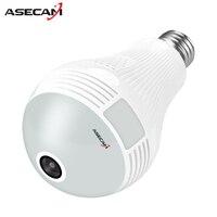 HD 1080P 3MP 5MP Bulb Light Wireless IP Camera Wi Fi FishEye 360degrees CCTV 3D VR
