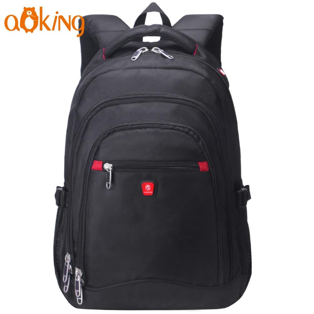 купить Aoking Casual School Backpack for Teenage Waterproof Nylon Daily Large Capacity Laptop Travel Computer Leisure Shoulders Backpac по цене 1789.01 рублей