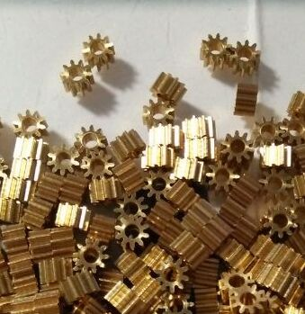 Copper Gear,0.4M 18T 2.98MM Diameter,0.4 Module 18 Teeth,For 2.98MM,fitting 3MM