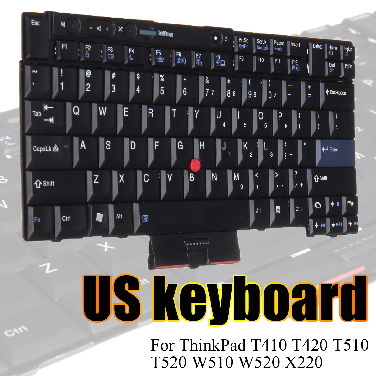 купить Black US Keyboard For Lenovo ThinkPad T410 T420 T510 T520 W510 W520 X220 Notebook Replacement Keyboards по цене 2232.36 рублей