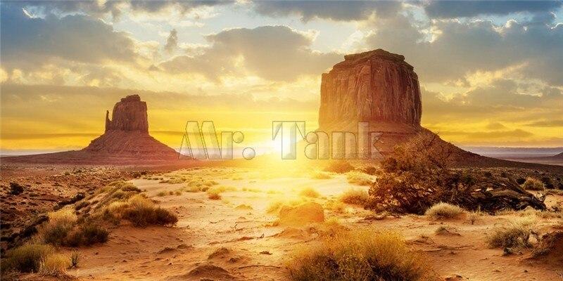 Mr.Tank Yellow Desert Aquarium Pozadina poster Riba zrna zmija Zid - Kućni ljubimci - Foto 2