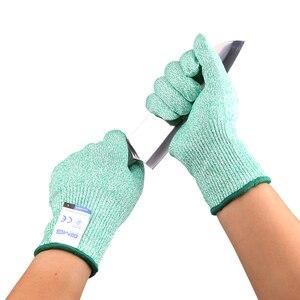 Image 2 - לחתוך עמיד כפפות רמת 5 GMG ססגוניות HPPE מזון כיתה למטבח אנטי לחתוך כפפות לחתוך הוכחת כפפות