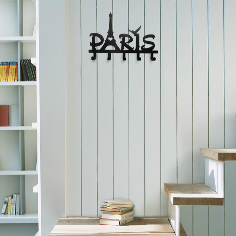 Romantic Paris Tower Alphabet Hook Simple Style Original Creative Home Wall Hanging Clothes HangerRomantic Paris Tower Alphabet Hook Simple Style Original Creative Home Wall Hanging Clothes Hanger