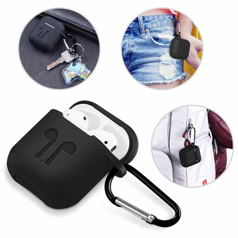 بلوتوث سماعات غطاء ل Airpods 2 حالة سماعات اكسسوارات سيليكون لينة حالة ل Airpods حالة لطيف مع في الأذن نصائح