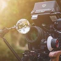 Vlogger photographie boule de cristal verre optique boule de Photo magique avec 1/4 ''effet lumineux décoratif photographie Studio accessoires