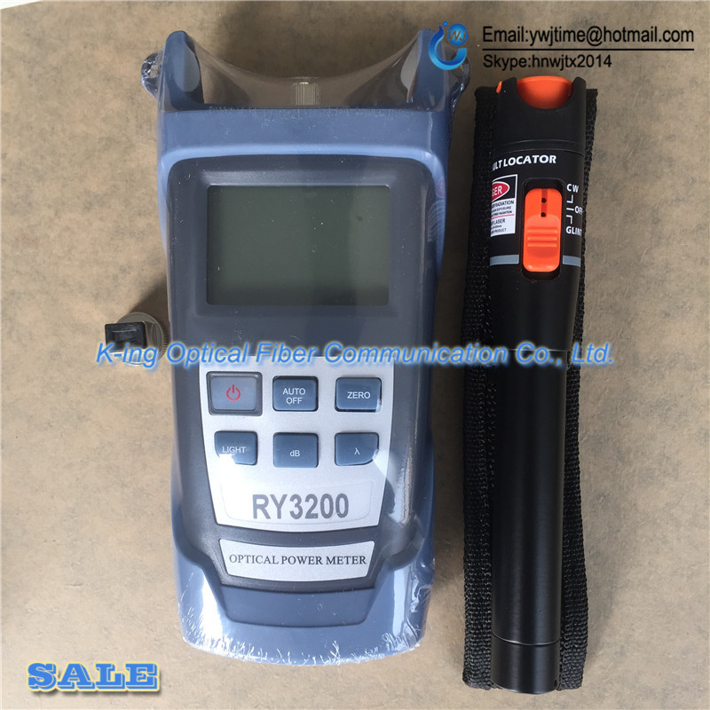 2 In 1 Fiber Optic FTTH Tool 10KM Visual Fault Locator and RY3200A Optical Power Meter -70~+10dBm SC/FC RY3200 OPM2 In 1 Fiber Optic FTTH Tool 10KM Visual Fault Locator and RY3200A Optical Power Meter -70~+10dBm SC/FC RY3200 OPM