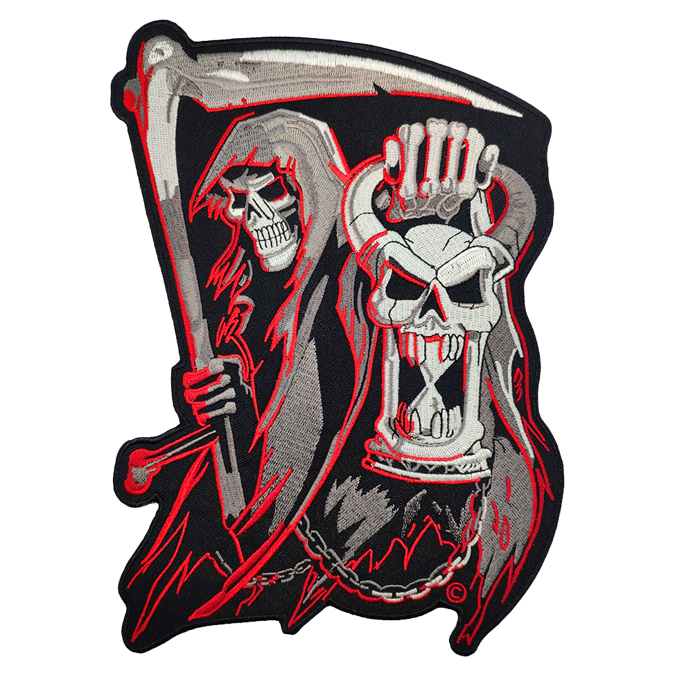 Satan Skull Hot Sell Embroidered <font><b>Patch</b></font> Full Back Large Pattern For Rocker Club Biker Stickers Clothes <font><b>MC</b></font> <font><b>Patch</b></font> For Clothing image