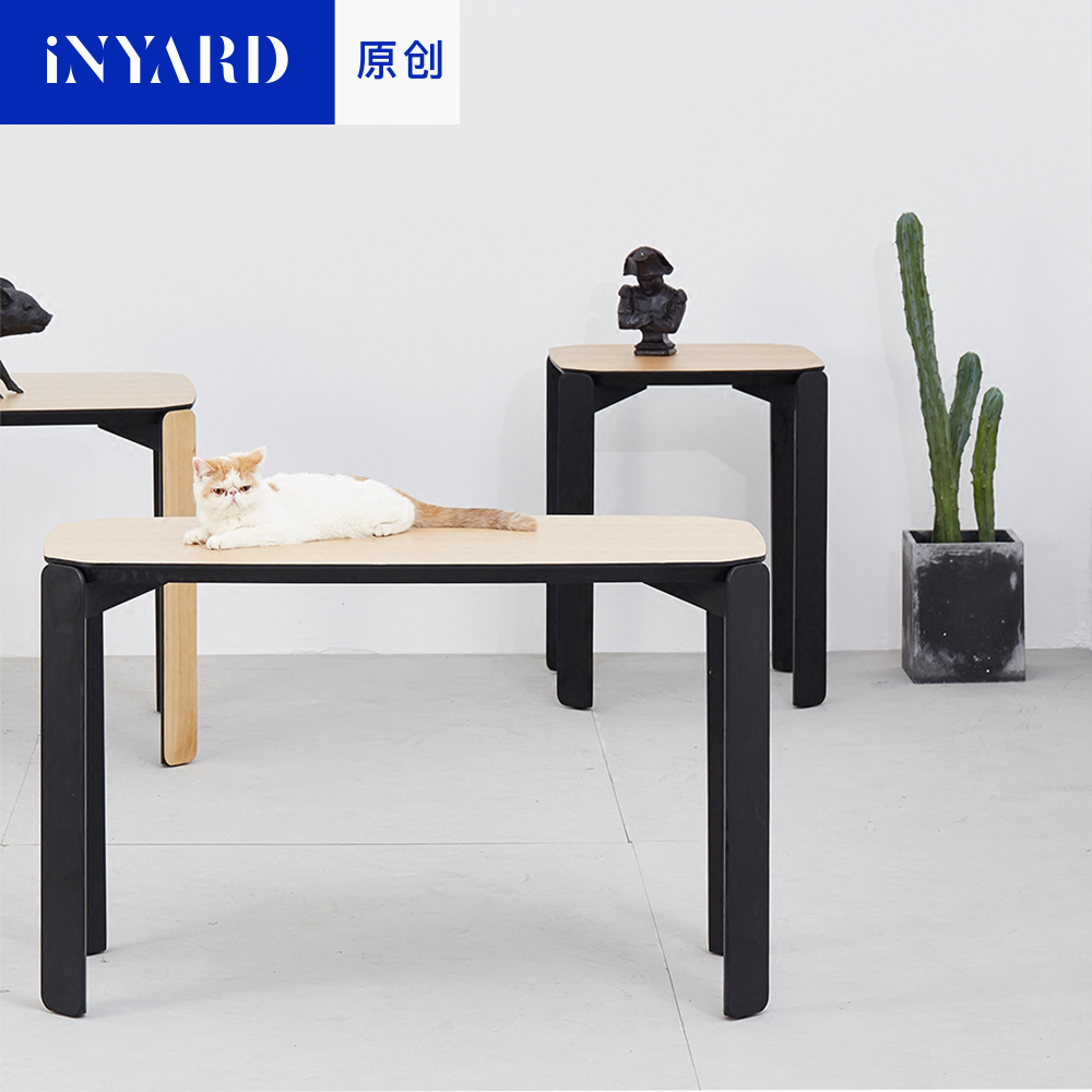 [InYard original] 45 degrees desk/imported white acorn wood, Nordic, modern contracted, household small family table tales from acorn wood colours