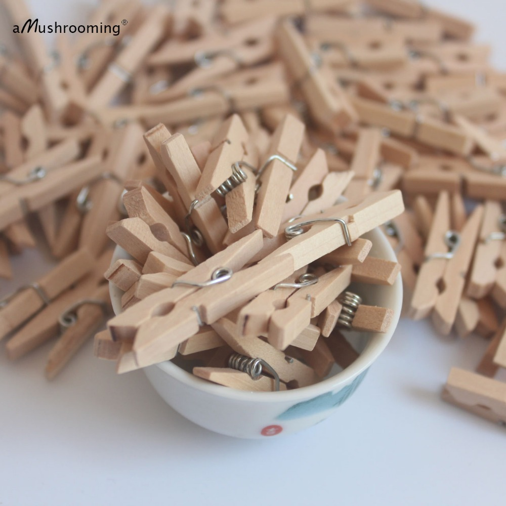 50 Of The Best Housewarming Gifts: 50x Mini Wooden Clothes Peg