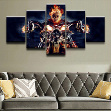Canvas Wall Art Pictures Framework Home Decorative 5 Pieces Comics Ghost Rider Abstract Painting Top-Rated Print Poster