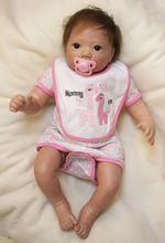 купить child Brown big eyes doll fake baby girl bebe bonecas reborn Real dolls reborn 2153CM 3/4 silicone menina brinquedos BJD LOL дешево