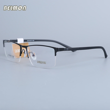 Belmon Eyeglasses Frame Men Computer Optical Prescription Nerd Eye Glasses Spectacle Transparent Clear Lens  For Male 030