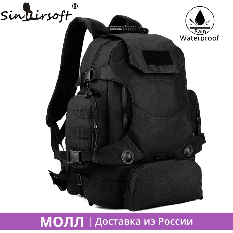 SINAIRSOFT New 45L Men Army Waterproof Outdoor Backpack Travel Tactical Camping Bags Large Capacity Shoulder backpacks