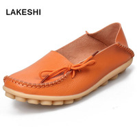 Women Flats Shoes Fashion Comfortable Casual Shoes Female PU Leather Flat Heel Loafers Soft Bottom Mother