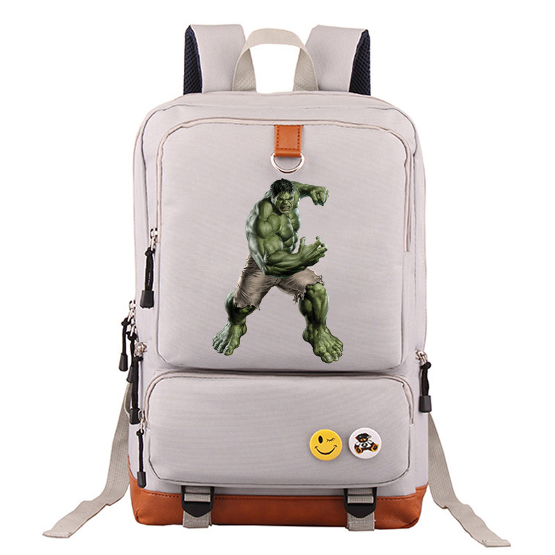 Luggage & Bags Angry Hulk Iron Man Captain America Boy Girl School Bag Women Bagpack Teenagers Schoolbags Canvas Men Student Backpack Packsack High Quality Goods Backpacks