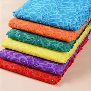 1Yard width18cm Incidental Seven-color bead tablets Elastic Lace Fabric DIY Crafts Sewing Suppies Decoration Accessories