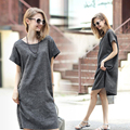 MamaLove Short Sleeve Maternity Clothes summer Maternity Dresses pregnancy clothes for Pregnant Women pregnant dress Plus Size