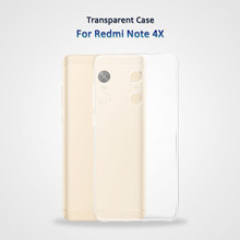 Phone Case Transparent Silicone Cover For Xiaomi Redmi Note 4X Case Silicone For Redmi Note 4X transparent Case Cell(China)
