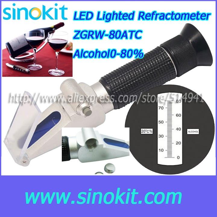 Cheaper Durable Aluminum Grape & Alcohol Refractometer - ZGRW-80ATC