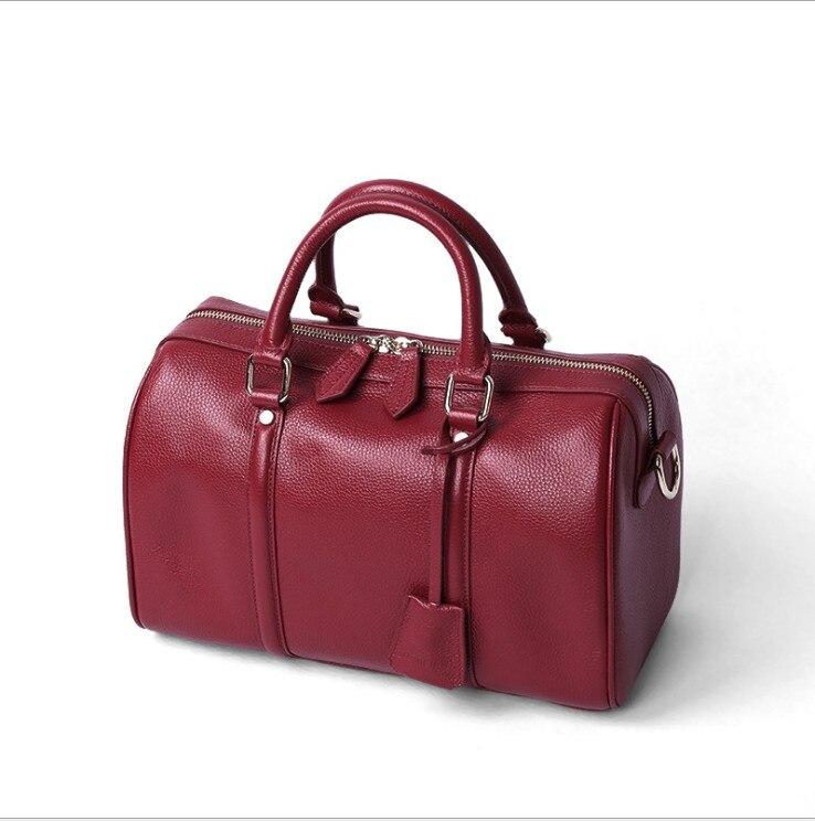 luxury bag designers woman cowhide Handbag 2019 header layer of Boston handbags Cross body Boston Europe