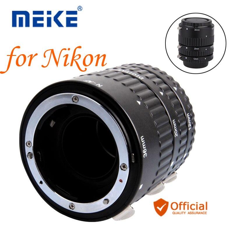 Meike Autofocus D'extension Macro Tube Anneau pour Nikon D7500 D7200 D5600 D5500 D5300 D3400 D3300 D850 D810a D750 D5 D4 Caméra