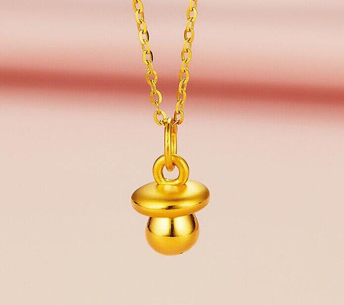 Authentic 24K Yellow Gold Pendant / Bless Milk Bottle Pendant / 0.8-1.5g цены онлайн
