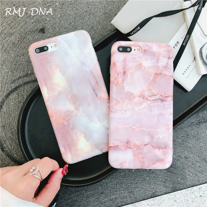 ... RMJ-DNA 7 Case Fashion Marble Frosted TPU Soft case For iPhone X lovely  Pink ... 1e8af7f3c60e