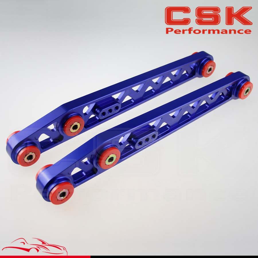 1 paire de bras de cambrure de contrôle de Suspension inférieure arrière pour Honda Civic EK EJ 96-00 bleu/noir/rouge/violet/argent/or - 3