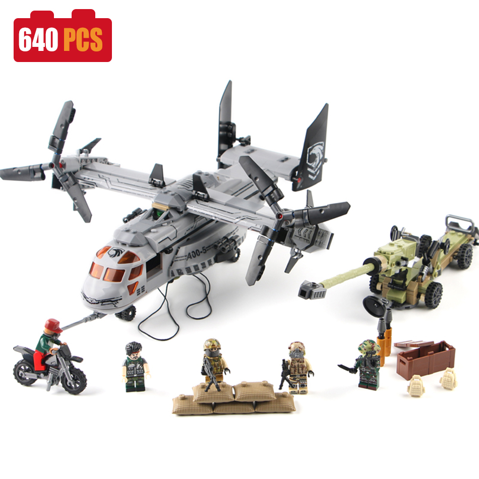 SEMBO Military Helicopter Building Blocks compatible legoed ww2 army figures soldiers with weapons enlighten toys for Children military city police swat team army soldiers with weapons ww2 building blocks toys for children gift