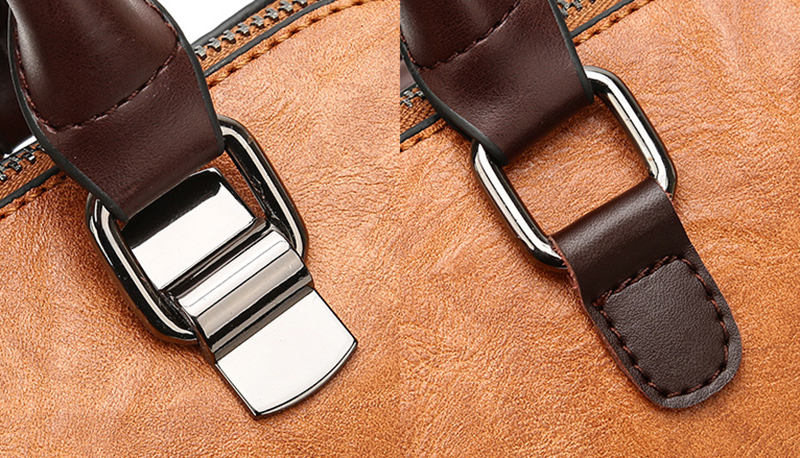 pure leather bag belt view