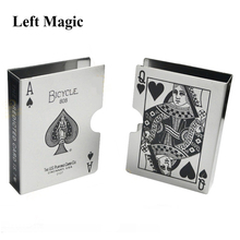 Metal Bicycle Playing Cards Clip Holder Magic Tricks Deck Poker Protector Pack Box Case Magic Props Illusion Gimmick Accessory
