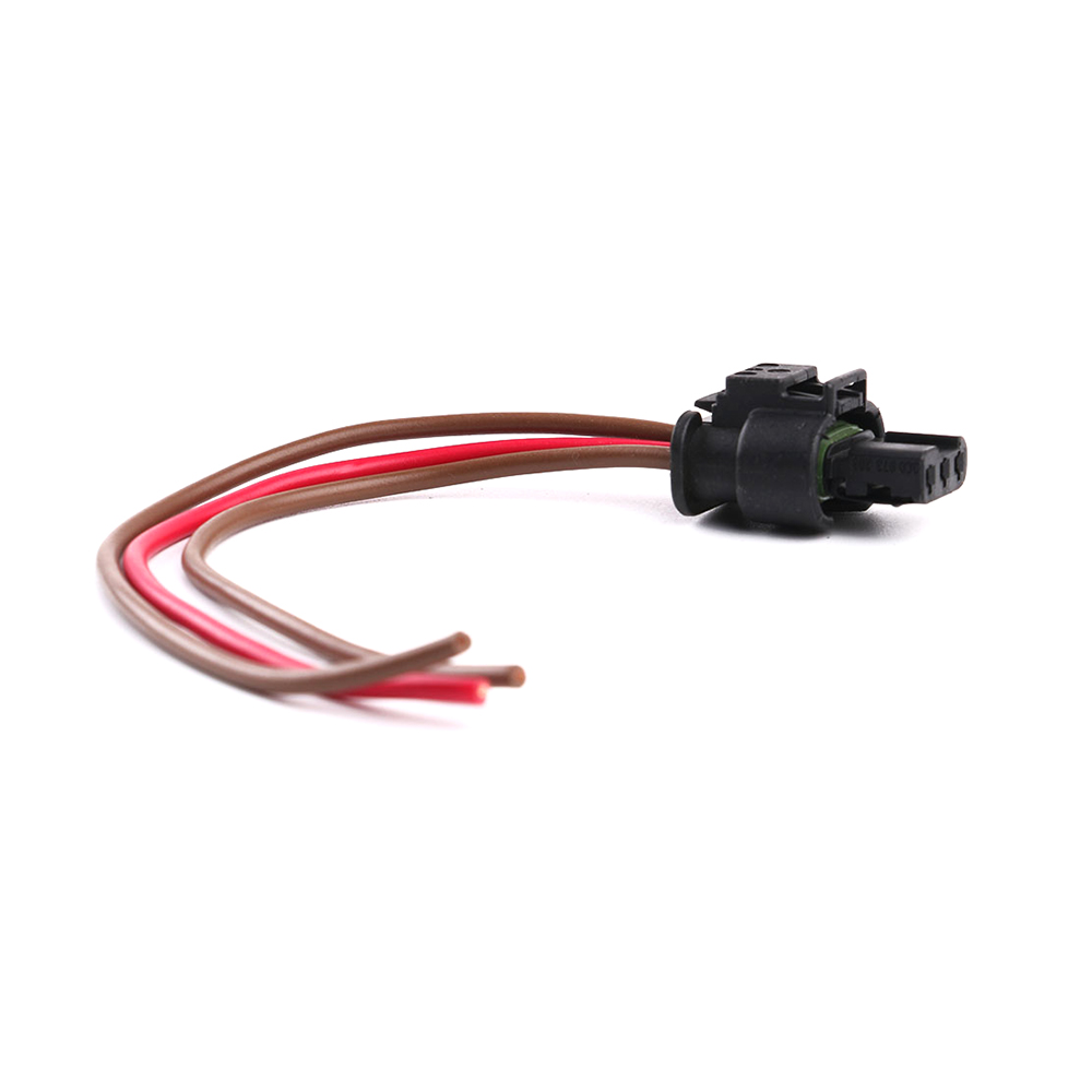 Warriorsarrow Flat Housing Connector Plug 3 Pin Wiring Harness For Jetta Vw Touareg 2007 2012 Audi A3 Q7 2008 2010 3c0973203 In Cables