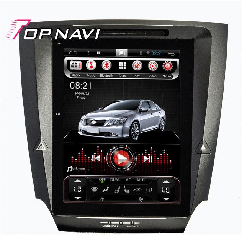 2018 Topnavi 2 GB RAM 10.4 ''Android 6.0 joueurs de voiture pour Lexus IS250 IS300 stéréo autoradio auto Navigation GPS système multimédia
