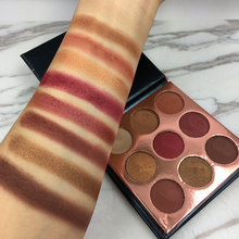 BEAUTY GLAZED 9 Color In 1 Burgundy Makeup Eyeshadow Palette