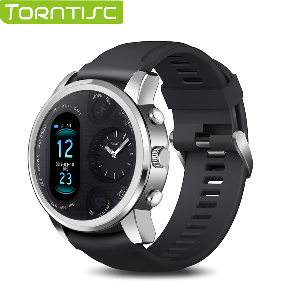 Torntisc Dual Display Smart Watch Men IP68 Waterproof Heart Rate Blood Pressure Message Push Smartwatch for