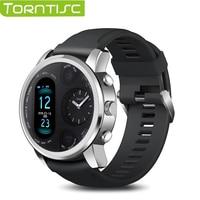 Torntisc-reloj inteligente para IP68 de hombre, reloj inteligente resistente al agua, con pantalla táctil dual, notificaciones de mensajes y control del ritmo cardíaco y de la presión sanguínea para Android e iOS