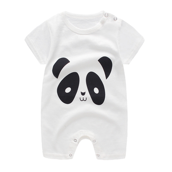baby clothes 100% cotton short sleeve summer girls boys rompers toddler infant 0-18 months clothes 2