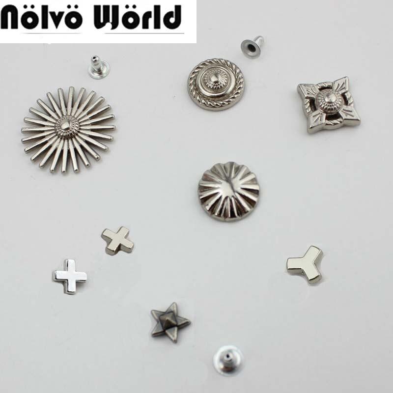 100pcs Hardware Accessories Decorative Nail Rivets Diy Shoulder Bag Messenger Bag Rivets