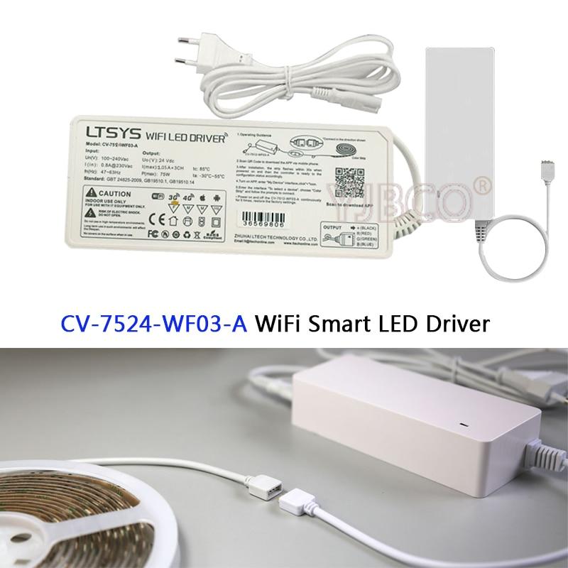 F3 Remote Und Ein Langes Leben Haben. Led Controller; Cv-7524-wf03-a; 24 V/75 Watt Ausgang 2 In 1 Funktion Rgb Wifi Led-treiber Kompatibel Mit Ex3 Touch Panel Beleuchtung Zubehör Rgb-controller