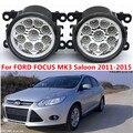 Для FORD FOCUS MK3 Седан 2011-2015 стайлинга Автомобилей передний бампер СВЕТОДИОДНЫЕ противотуманные фары высокой яркости противотуманные фары 1 компл.