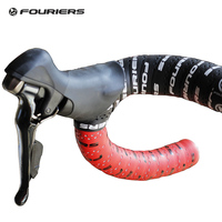 Fouriers Dual Color Tape Bicycle Drop Handlebar Wraps PU Fixed Gear Road Bike Handle Bar Double Shot Tapes Belt