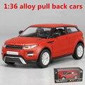 1:36 aleación tire hacia atrás coches, alta simulación modelo Land Rover, 2 puerta abierta, pintura mate de metal casting, automóviles de juguete, envío libre