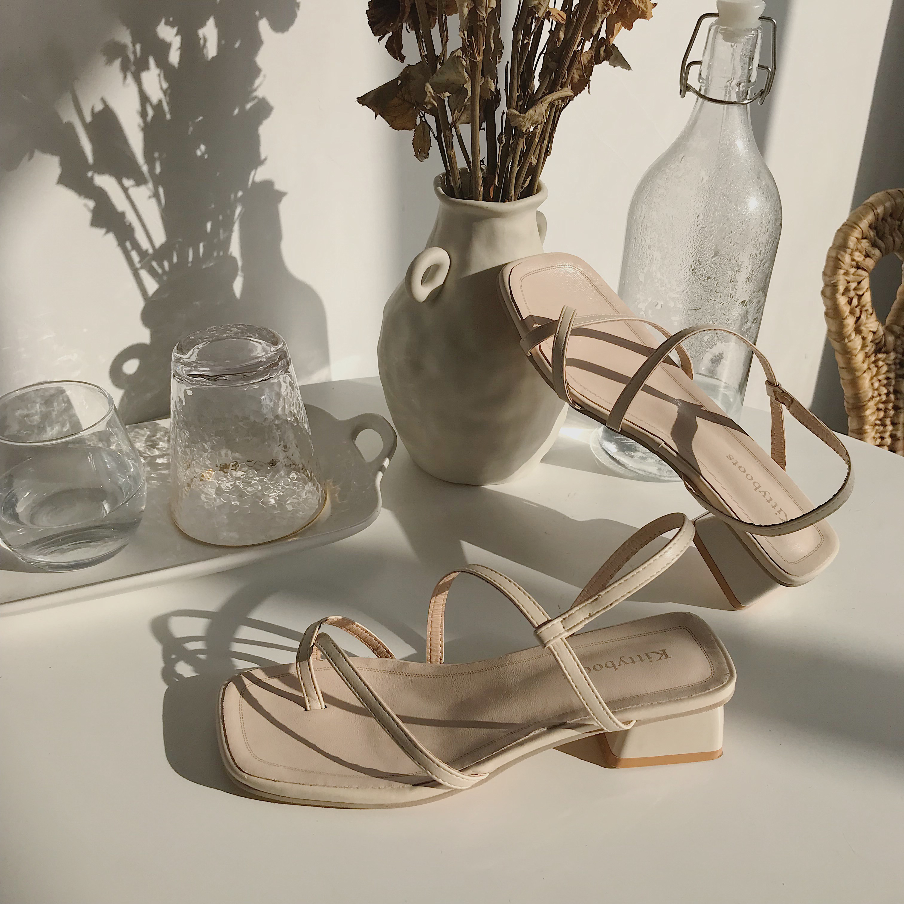 Strap Sandals Women High Heels Sandals Ladies Slip On Sandals Summer Women Shoes 2019 New Beach Slippers Ladies Soft Sandals