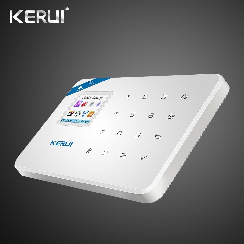 Kerui Wifi GSM Home Security Alarm System ISO Android APP TFT Touch Panel Security Alarm System Wifi IP Camera 1