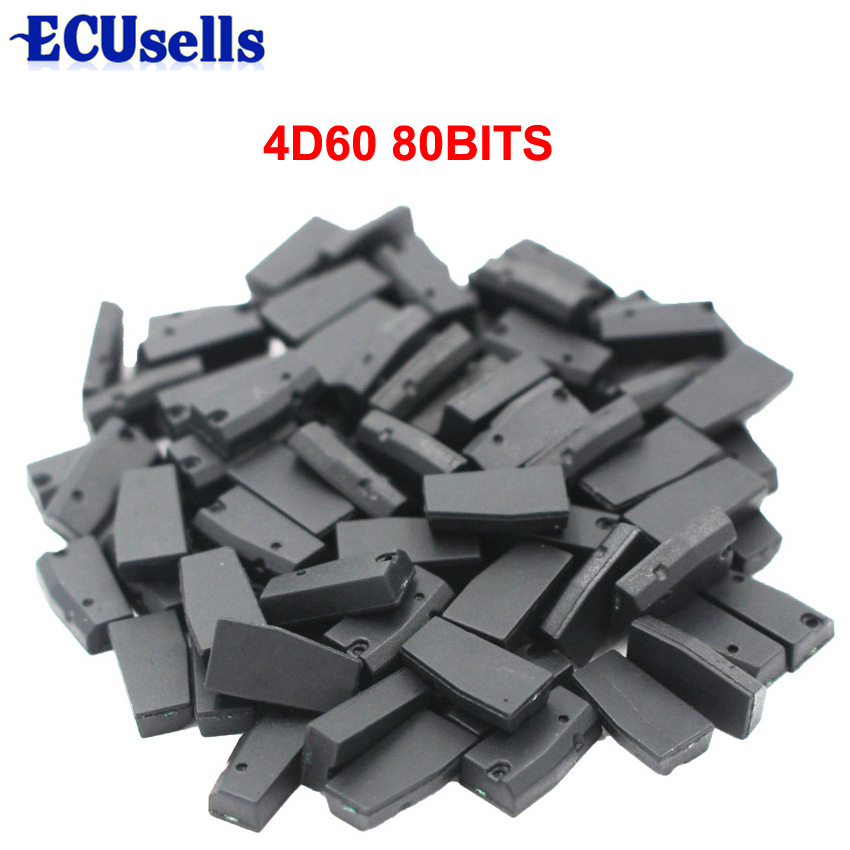 50pcs lot ID4D60 4d60 80bit blank Transponder Chip for Car