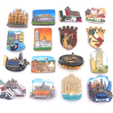 (5 pieces a lot)World Tourism Resin Stereo Fridge Magnet цена