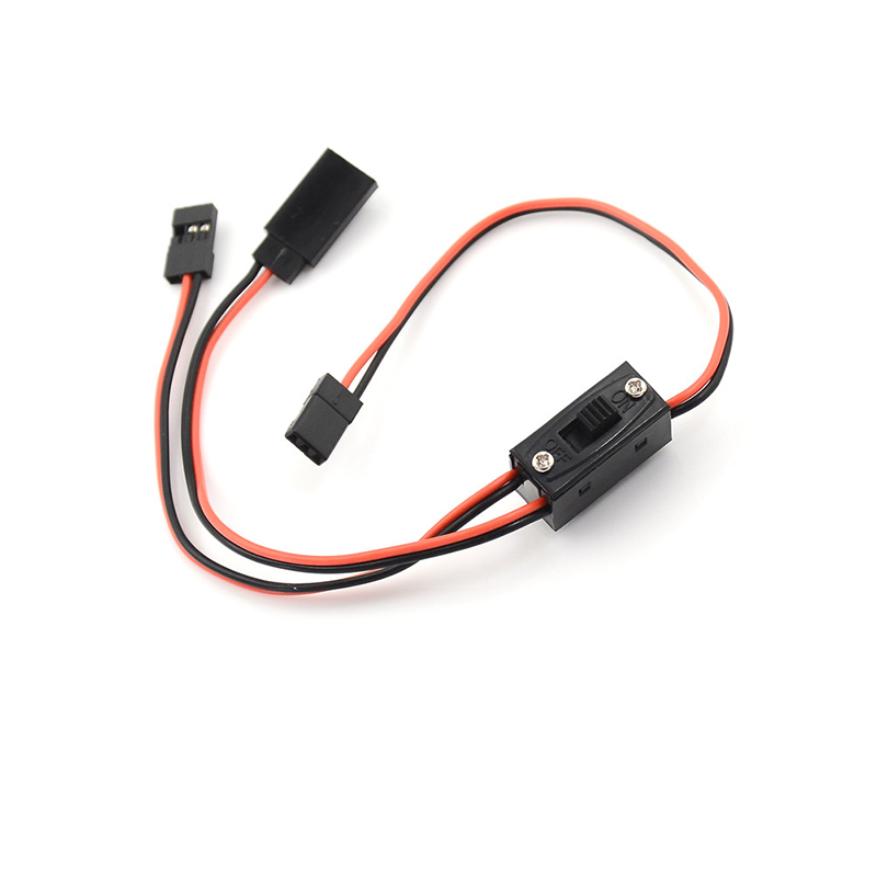 Control Receiver Power Switch Three Interfaces RC Switch Receiver Battery On/Off With JR Lead Connectors And Charge Lead 1pcs